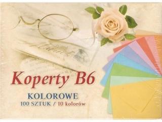 Koperta kolor B6 12, 5x17, 6cm kolorowe (100szt)
