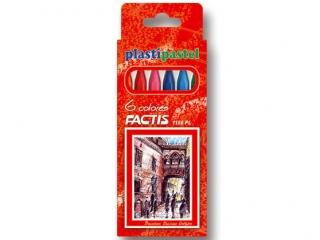Kredki pastele plastikowe  6 kolorów FACTIS