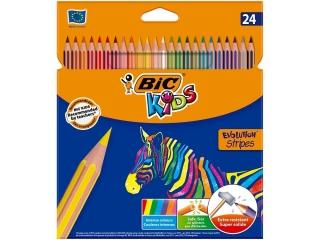 Kredki BIC Evolution Stripes 24 kolory