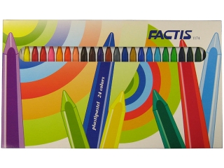 Kredki pastele plastikowe 24 kolory FACTIS