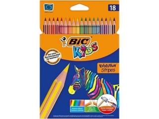 Kredki BIC Evolution Stripes 18 kolorów