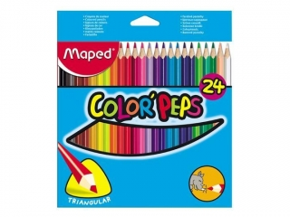 Kredki MAPED trójk±tne 24-kolory (83224)