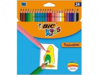 Kredki BIC Tropicolors cienkie 24 kolory HURT