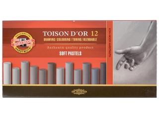 Pastele suche KOH-I-NOOR Toison D'or 12 kolorów - odcien