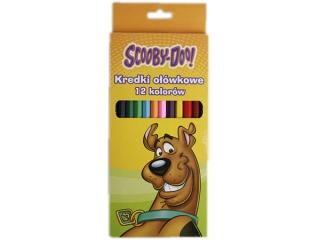 Kredki o³ówkowe BENIAMIN 12 kolorów Scooby Doo