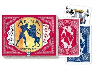 Karty do gry TREFL 55x2 listki Arena
