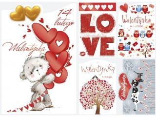 Kartki pocztówka POL-MAK PLW wycinana Walentynki a'50