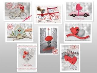 Kartki karnet kwadrat DELTA Walentynki (WB1V)
