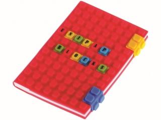 Notes silikonowy A6 czerwony 100k