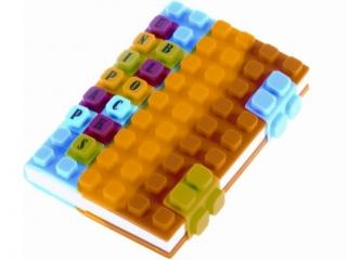 Notes silikonowy A6 niebiesko-¿ó³to-pomarañczowy