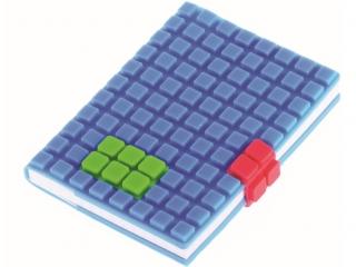 Notes silikonowy A7 niebieski 60k