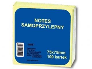 Notes samoprzylepny SDM 75x75cm 100k. ¿ó³ty pastel