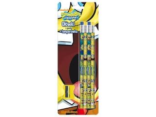 O³ówki z gumk± 4 szt.+ temperówka (blister) SPONGE BOB