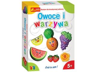Zestaw kreatywny RANOK Gipsowe magnesy - Warzywa i owoce