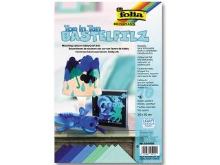 Filc FOLIA 20x30cm odcienie niebieskie