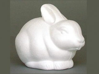 Styropianowy króliczek SKR a'4 Wielkanoc