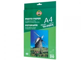 Papier fotograficzny KOH-I-NOOR b³yszcz±cy A4 20k. 200g