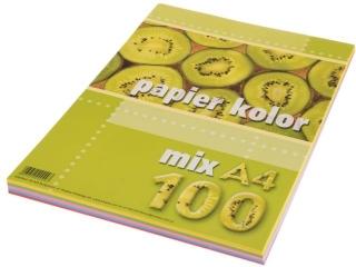 Papier ksero kolorowy A4 100k. KRESKA  mix