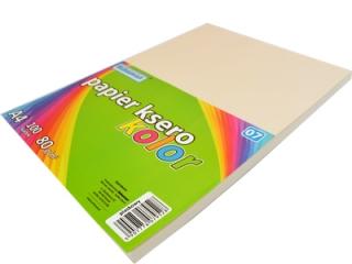 Papier ksero SCHEMAT A4 100k. 80g kolor - 07 piaskowy