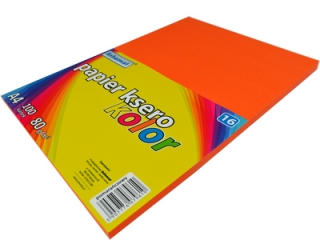 Papier ksero SCHEMAT A4 100k. 80g kolor - 16 pomarañczowy
