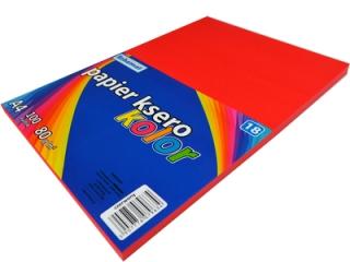 Papier ksero SCHEMAT A4 100k. 80g kolor - 18 czerwony