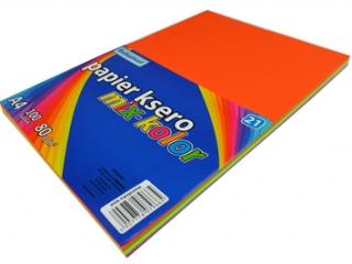Papier ksero kolorowy A4 100k. SCHEMAT mix kolorów nasyconyc