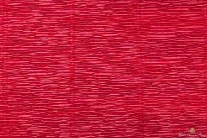 Krepina 180g/m 586 karminowy czerwony