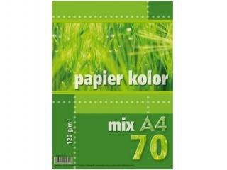 Papier ksero kolorowy A4  70k. KRESKA 120g mix