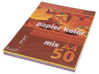 Papier ksero kolorowy A4  50k. KRESKA mix 160g