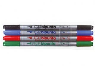 Pisaki dwustronne  4 kolory FIBRACOLOR Bipunta - etui