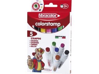 Pisaki - piecz±tki  5 kolorów FIBRACOLOR Colorstamp