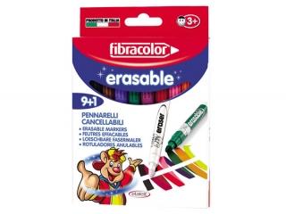 Mazaki 9+1 kolorów FIBRACOLOR Erasable wymazywalne
