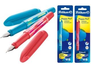 Pióro wieczne PELIKAN Happy Pen P24 nie/cze + naboje