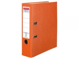 Segregator A4 8cm HERLITZ Q.file standard PP - pomarañczowy