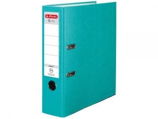 Segregator A4 8cm HERLITZ Q.file standard PP - turkusowy