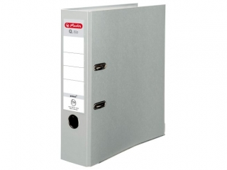 Segregator A4 8cm HERLITZ Q.file standard PP - popielaty