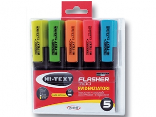 Textmarker 5 kolorów w etui FIBRACOLOR Flasher