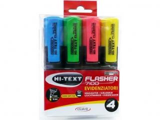 Textmarker 4 kolory w etui FIBRACOLOR Flasher