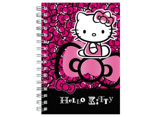 Notes spiralny A6 DERFORM Hello Kitty