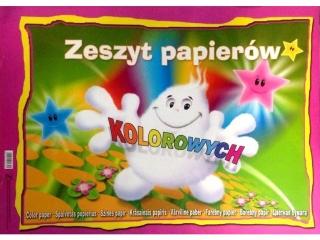 Zeszyt papierów kolorowych A3 10k. KRESKA z po³yskiem