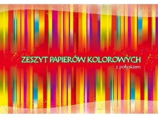 Zeszyt papierów kolorowych A4 10k. KRESKA z po³yskiem