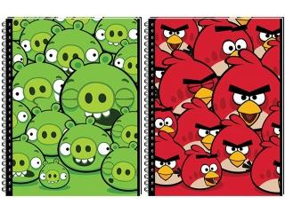 Ko³ozeszyt A5 80k. INTERDRUK Angry Birds kratka