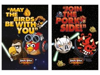 Brulion A5 96k. MAJEWSKI Angry Birds & Star Wars II  kratka